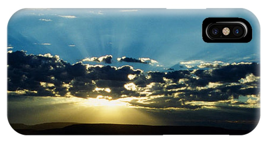 Sunrise IPhone X Case featuring the photograph Desert Morning by Joseph Schofield