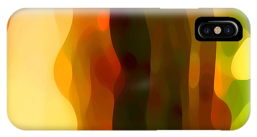 Bold IPhone X Case featuring the painting Desert Pattern 1 by Amy Vangsgard