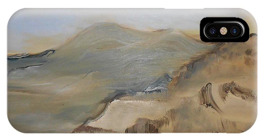 IPhone X Case featuring the painting Desert Reservoir by Gregory Dallum