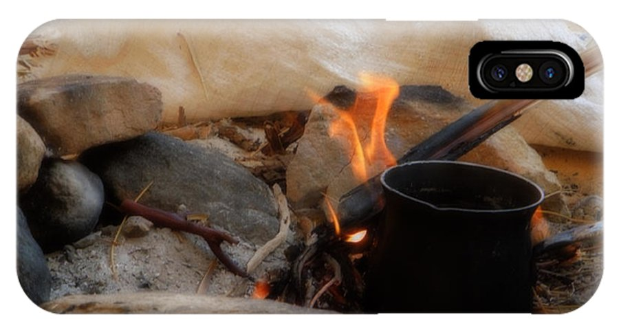 Colette IPhone X Case featuring the photograph Desert Sinai Fireplace Egypt by Colette V Hera Guggenheim