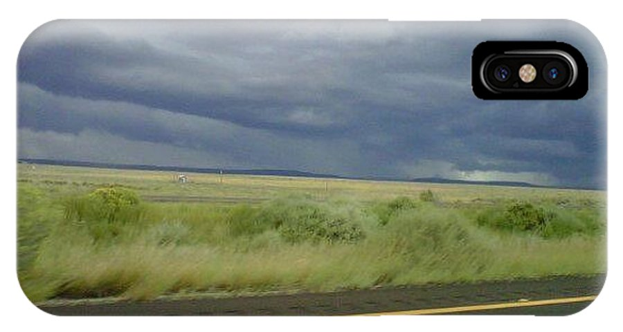 IPhone X Case featuring the photograph Desert Storm by J Shawn Conrey