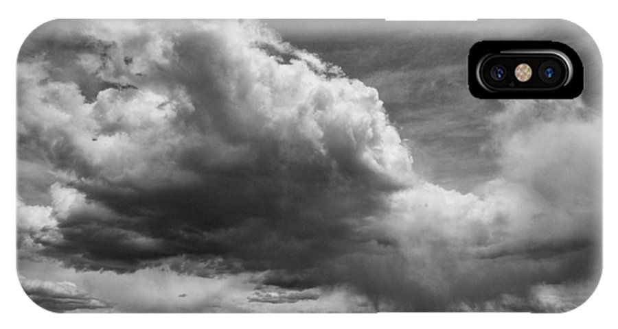 Black IPhone X Case featuring the photograph Desert Thunderstorm by Cat Connor