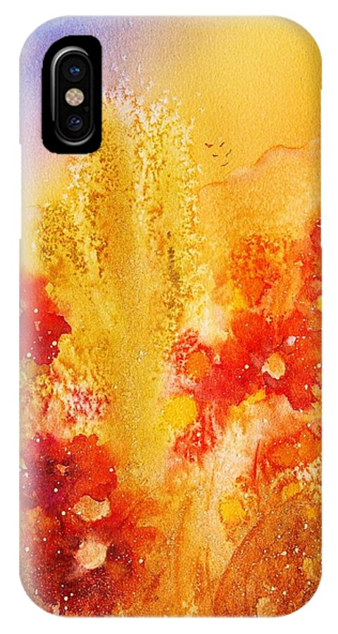 Watercolor IPhone X Case featuring the painting Desert Treasures by Heidi Searle