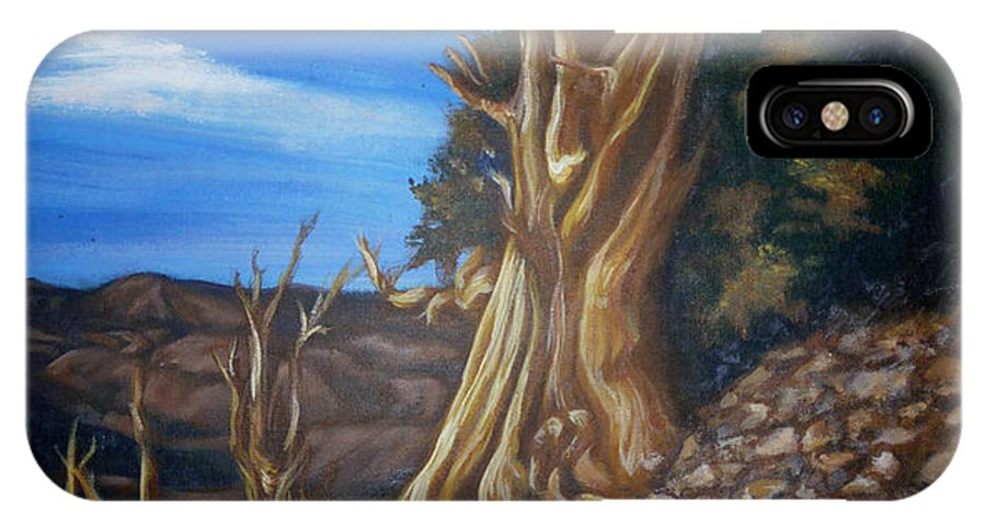 Desert IPhone X Case featuring the painting Desert Tree by Bryan Bustard