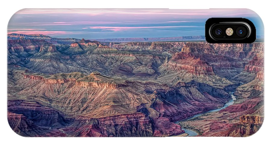 Grand Canyon IPhone X Case featuring the photograph Desert View Sunset by Tom Weisbrook