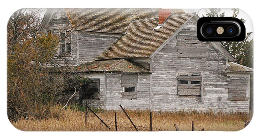 Mary Carol Story IPhone X Case featuring the photograph Deserted House by Mary Carol Story