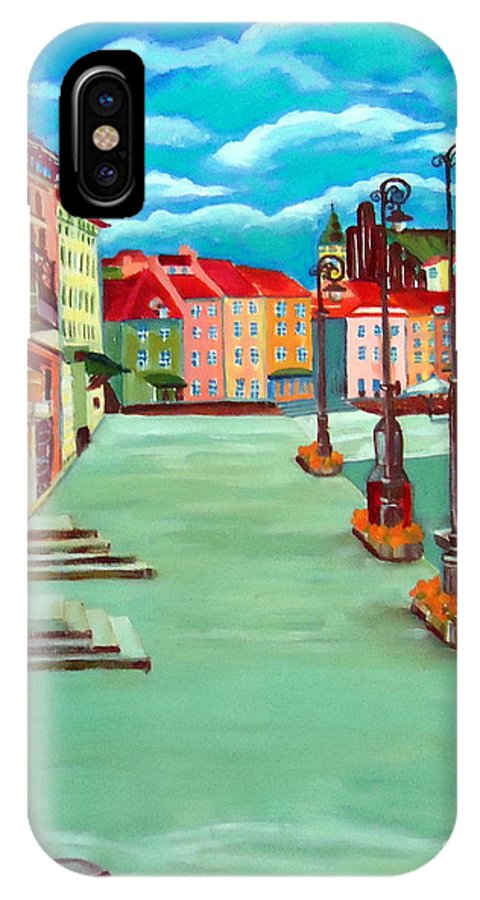 Landcape Painting IPhone X Case featuring the painting Deserted Warsaw by Alicia Wierzbicki