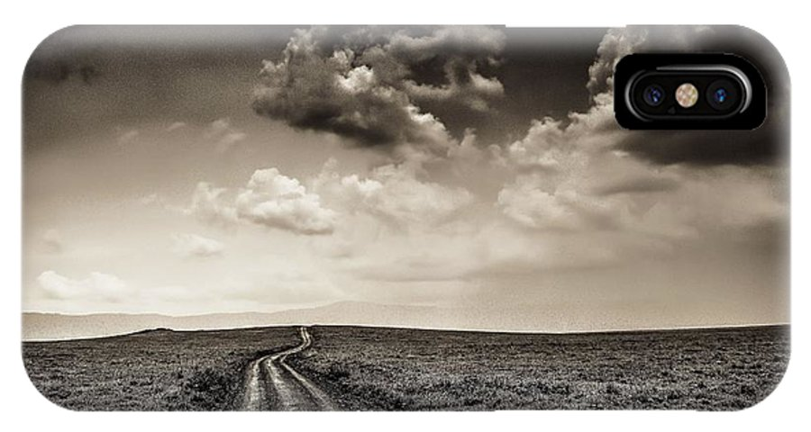 Plain IPhone X Case featuring the photograph Desolation Road by Gene Myers