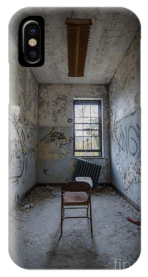 Urbex IPhone X Case featuring the photograph Detention Room by Michael Ver Sprill