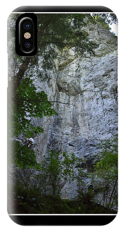 Rock Climbing IPhone X Case featuring the photograph Determination by Kirt Tisdale