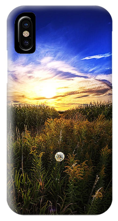 Sunset IPhone X Case featuring the photograph Determined by Sushmita Sadhukhan