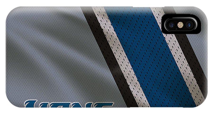 Lions IPhone X Case featuring the photograph Detroit Lions Uniform by Joe Hamilton