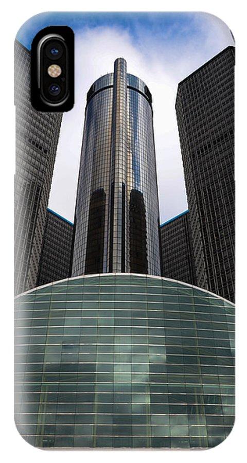 Detroit IPhone X Case featuring the photograph Detroit Renaissance by Gales Of November