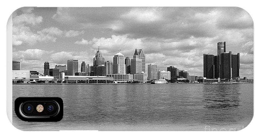 Detroit IPhone X Case featuring the photograph Detroit Skyline by Ann Horn