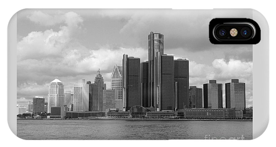 Detroit IPhone Case featuring the photograph Detroit Skyscape by Ann Horn