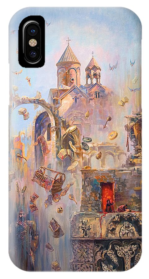 History IPhone X Case featuring the painting Devoted To The Saint Memory Of The Victims Of Armenian Genocide by Meruzhan Khachatryan