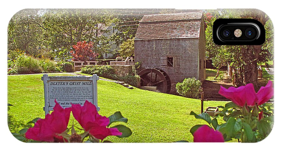 Landscape IPhone X Case featuring the photograph Dexters Grist Mill Two by Barbara McDevitt