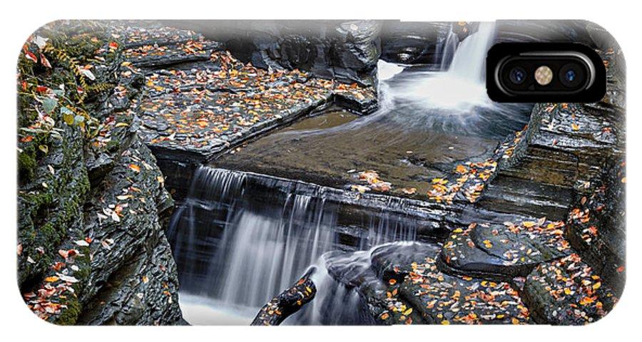 Diamond IPhone X Case featuring the photograph Diamond Falls by Eduard Moldoveanu