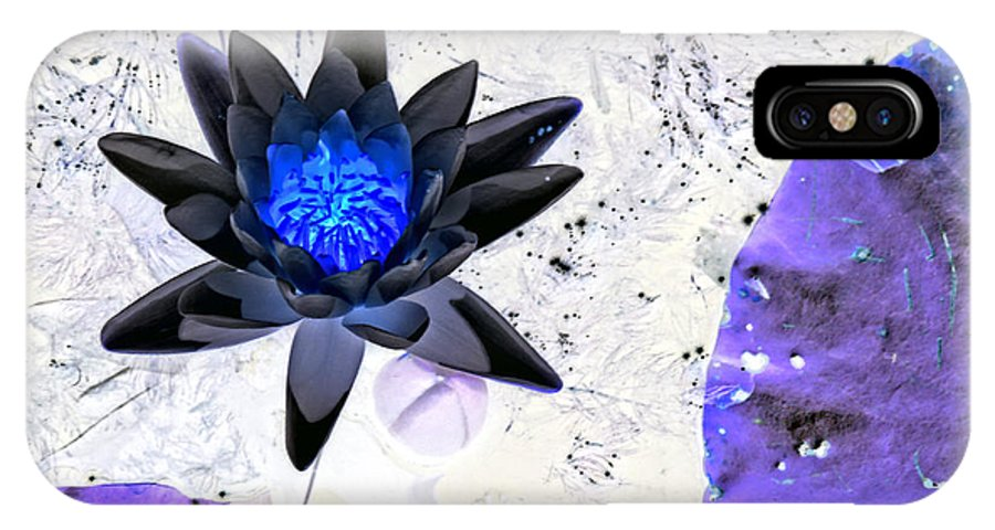 Petals IPhone X Case featuring the photograph Digitally Altered Water Lily by Marilyn Holkham
