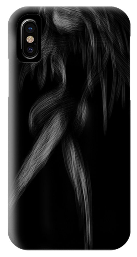 Girl IPhone X Case featuring the mixed media Dim by Len YewHeng