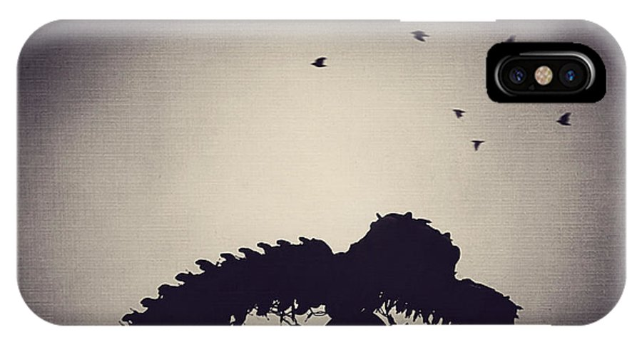 Dinosaur IPhone X Case featuring the photograph Dino In The City by Trish Mistric