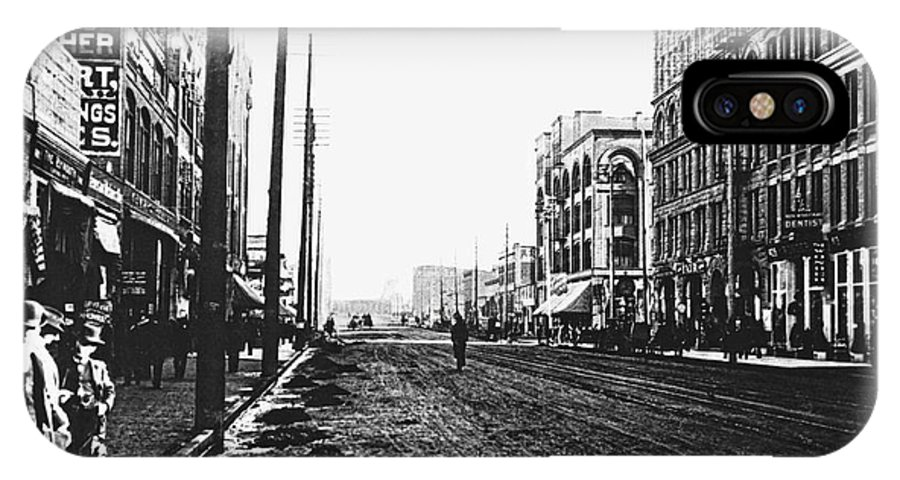 Spokane IPhone X Case featuring the photograph Downtown Dirt Spokane C. 1895 by Daniel Hagerman