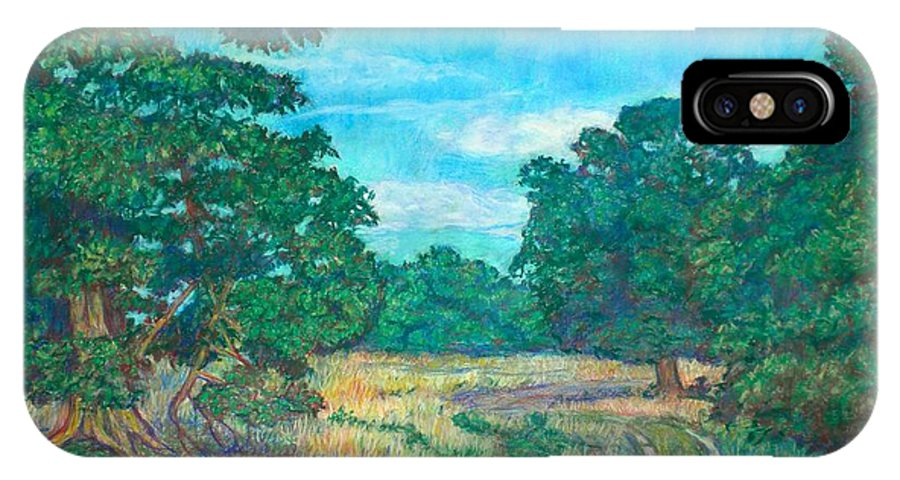 Landscape IPhone Case featuring the painting Dirt Road Near Rock Castle Gorge by Kendall Kessler
