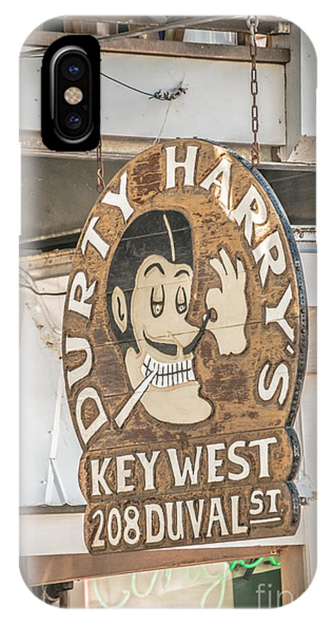 America IPhone X Case featuring the photograph Dirty Harry's Key West - Hdr Style by Ian Monk
