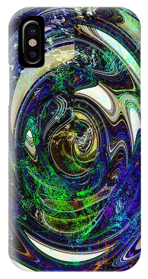 Abstract IPhone X Case featuring the digital art Discovery by Richard Thomas