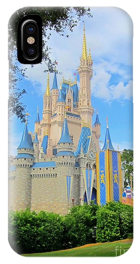 Disney Castle IPhone X / XS Case featuring the photograph Disney Castle by Crystal Loppie