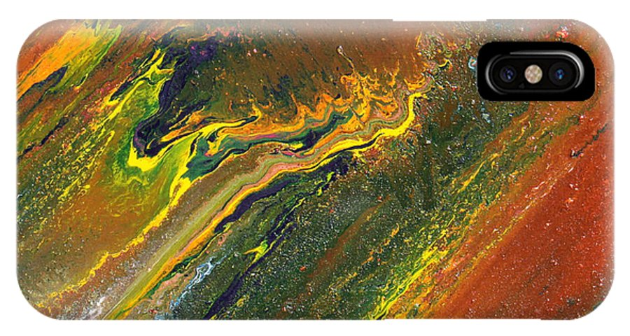 Fusionart IPhone X Case featuring the painting Distance by Ralph White