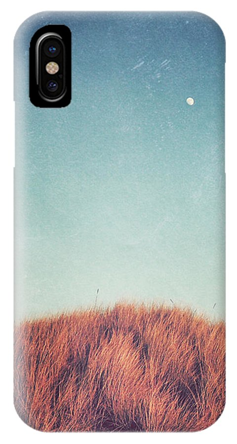 Moon IPhone X Case featuring the photograph Distant Moon by Lupen Grainne