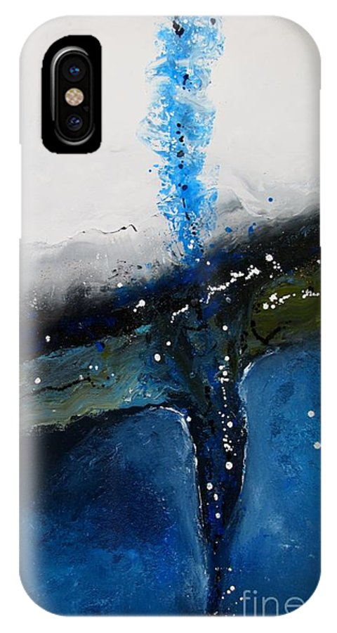 Abstract IPhone X Case featuring the painting Dive Deep by Michele Napier-Berg