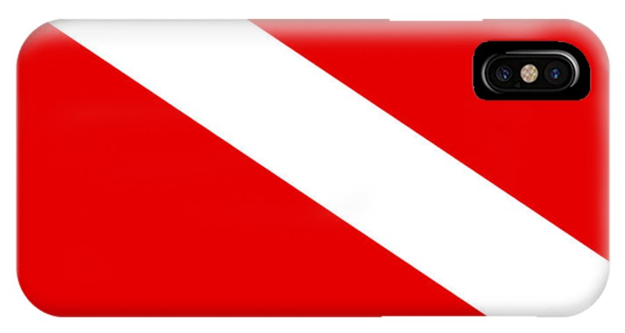 Diver IPhone X Case featuring the digital art Diver Flag by Frederick Holiday