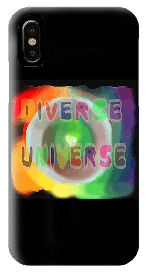 Diverse IPhone Case featuring the painting Diverse Universe by Pharris Art