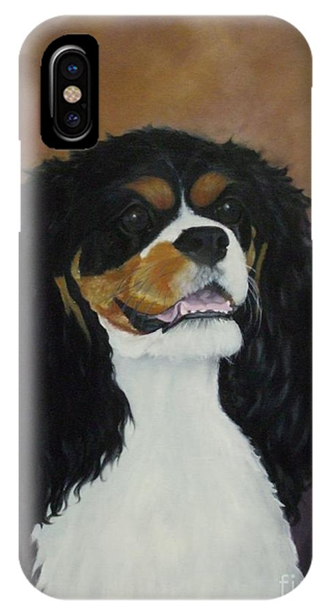 Dog IPhone X Case featuring the painting Dixie Belle by M J Venrick