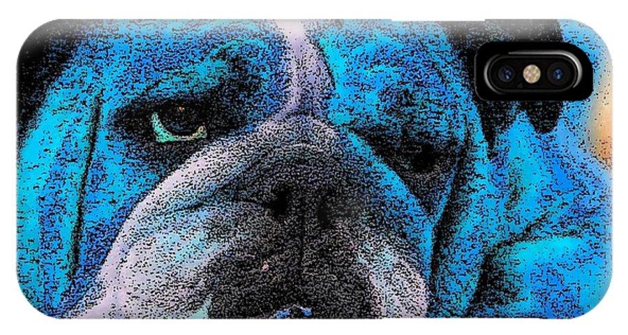 Dog IPhone X Case featuring the digital art Do I Look Like I Am A Happy Dog by Kathy Budd