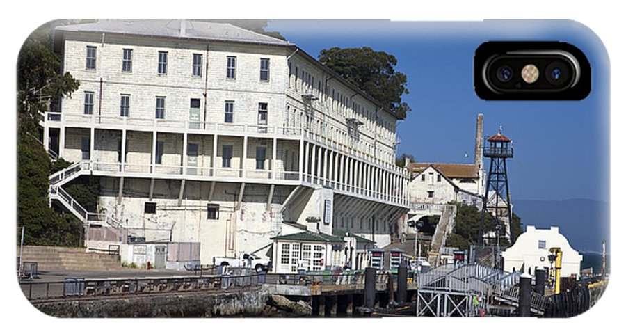 United States Of America IPhone X Case featuring the photograph Dock At Alcatraz Island by Jason O Watson