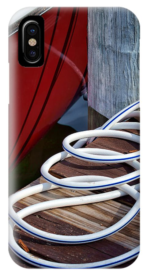 Dock IPhone X Case featuring the photograph Dock Details by Nikolyn McDonald