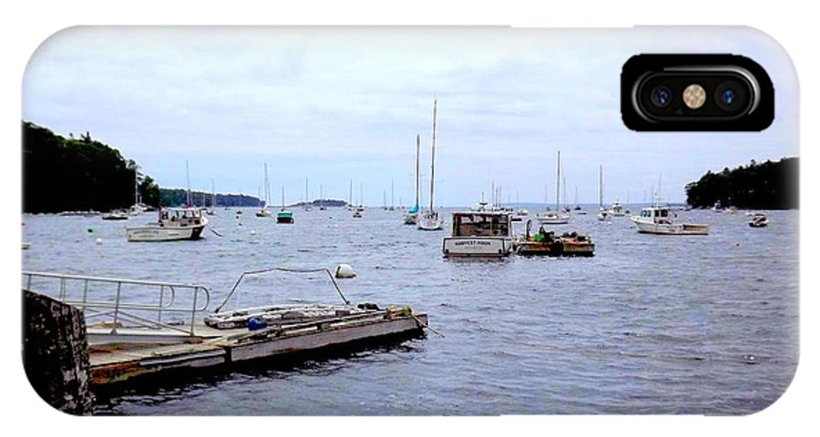 Landscape IPhone X Case featuring the photograph Dockside by Dancingfire Brenda Morrell