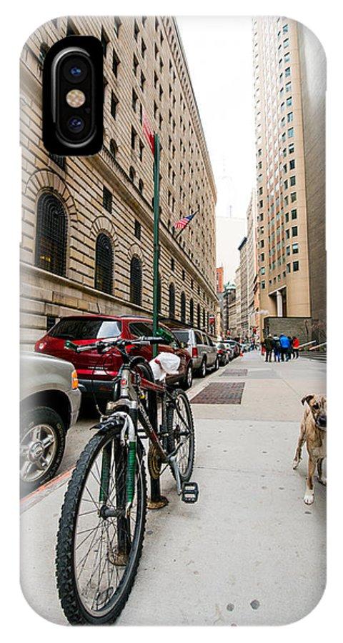 Manhattan IPhone X Case featuring the photograph Dogs 1 by Alyaksandr Stzhalkouski