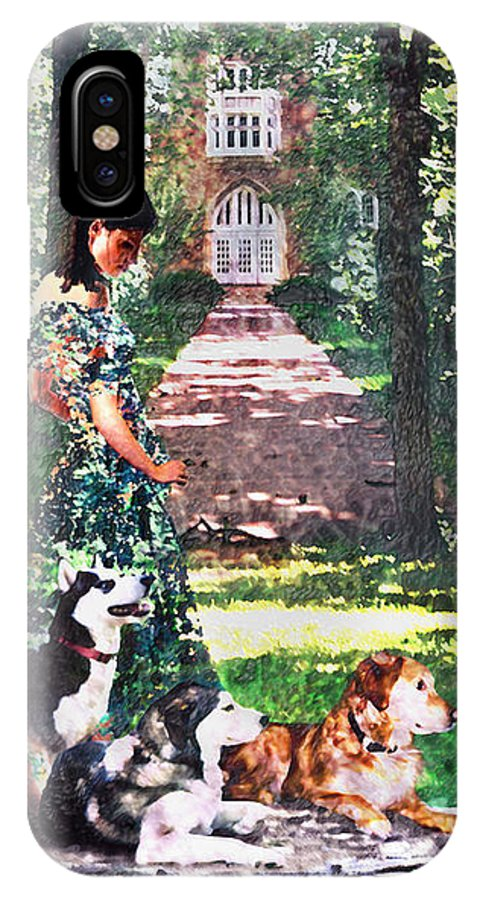 Landscape IPhone X Case featuring the photograph Dogs Lay At Her Feet by Steve Karol