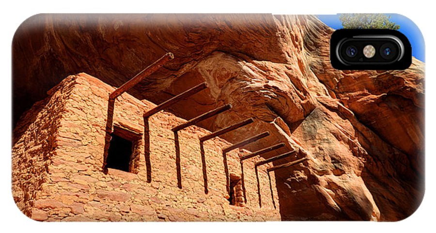Doll IPhone X Case featuring the photograph Doll House Anasazi Ruin by Gary Whitton