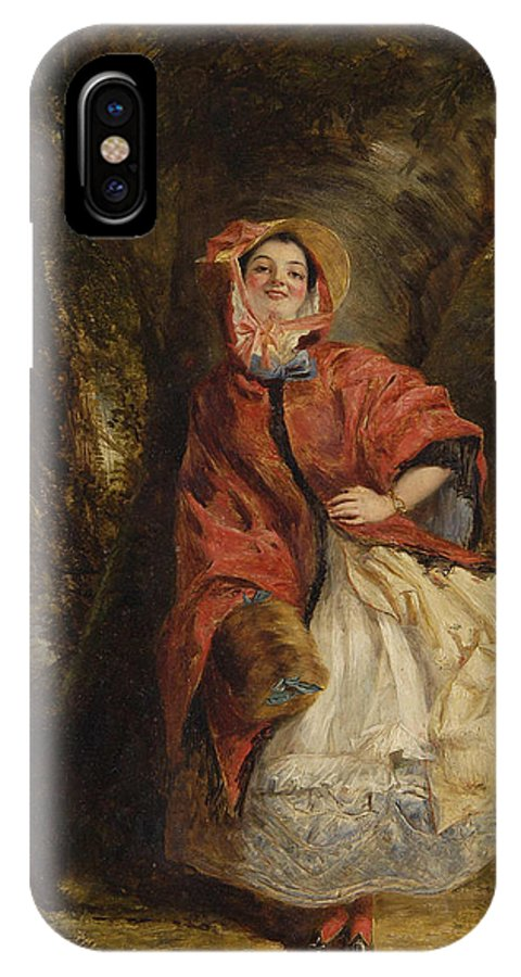 William Powell Frith IPhone X Case featuring the digital art Dolly Vardon by William Powell Frith