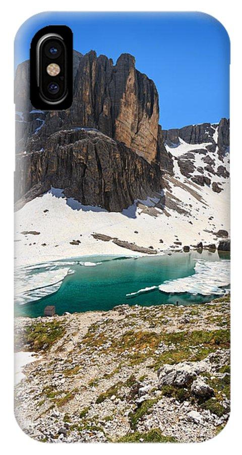Badia IPhone X / XS Case featuring the photograph Dolomites - Pisciadu' Peak by Antonio Scarpi