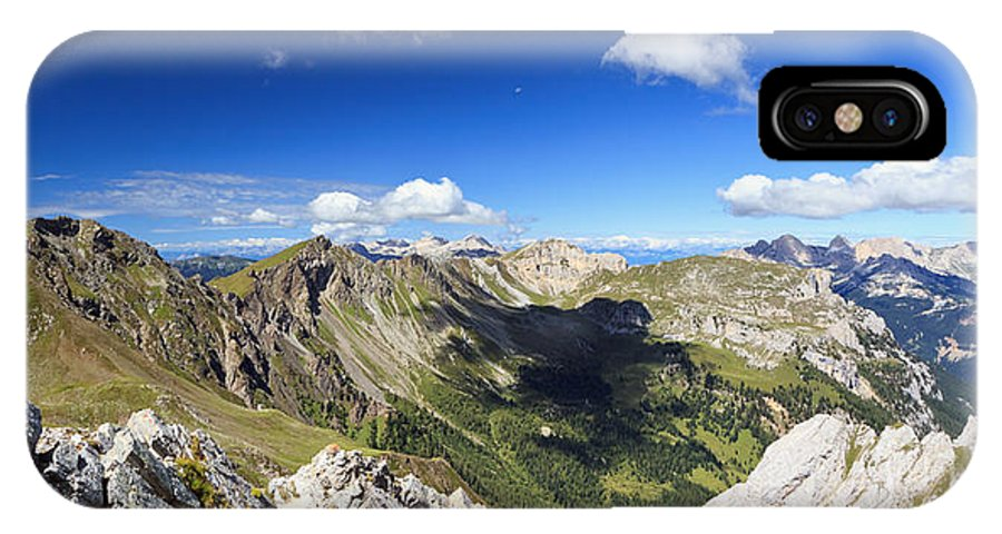 Aerial IPhone X Case featuring the photograph Dolomites Landscape On Summer by Antonio Scarpi