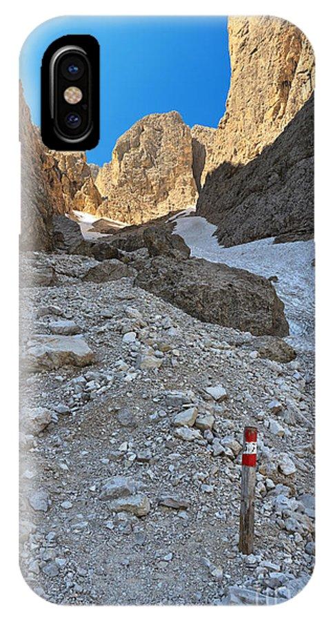 Alto Adige IPhone X / XS Case featuring the photograph Dolomiti - Val Setus by Antonio Scarpi