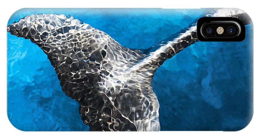 Natura IPhone X Case featuring the photograph Dolphin Dancing With Light by Aleksandra Bandomir