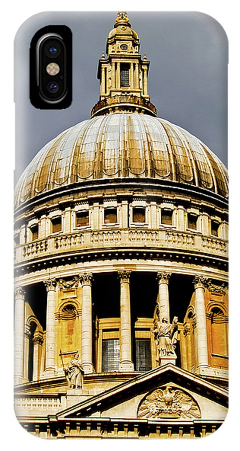 Britain IPhone X Case featuring the photograph Dome Of St. Paul's Cathedral by Christi Kraft