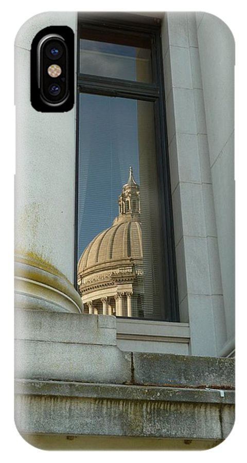 Capitol IPhone X Case featuring the photograph Dome Reflection by Patricia Strand